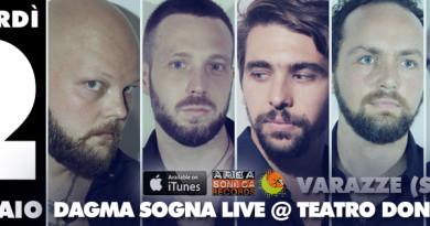 """Showcase nella serata del 2 febbraio per i Dagma Sogna: la band savonese presenta il nuovo album """"Tratti Di Matita"""" al CineTeatro Don Bosco di Varazze. Fuori oggi anche il nuovo videoclip!"""